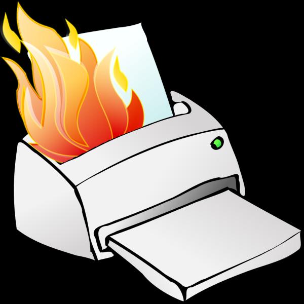 Printer Burning PNG Clip art