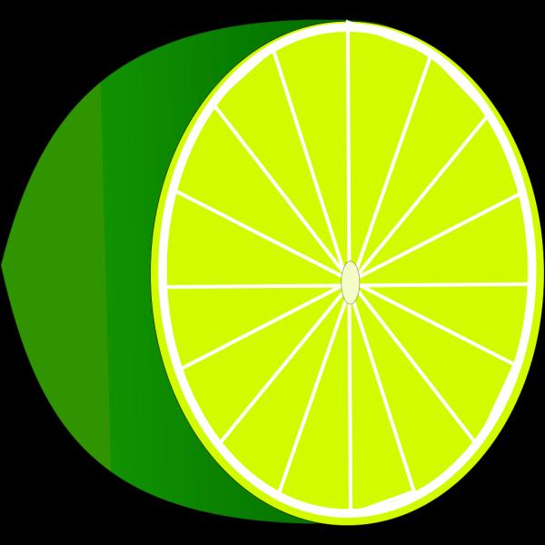 Lime Half PNG Clip art