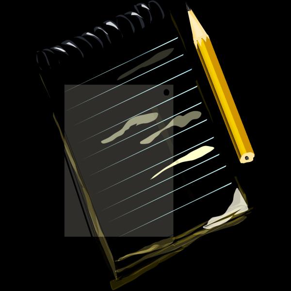 Notepad Pencil PNG Clip art