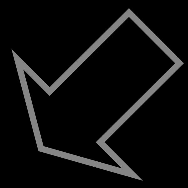 Down Arrow Left PNG Clip art