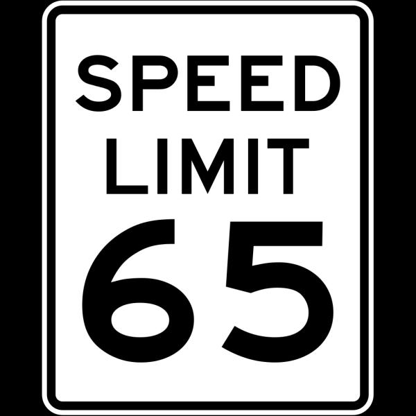 Speed Limit 65 PNG Clip art