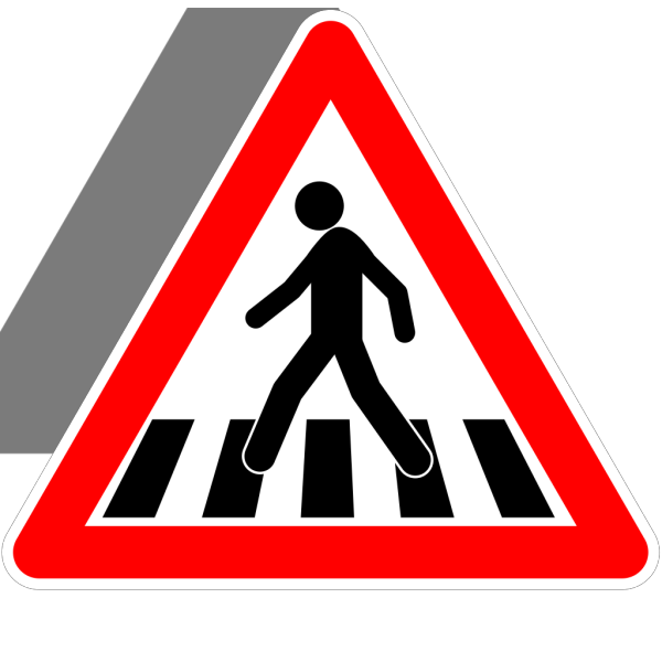 Us Crosswalk Sign PNG Clip art