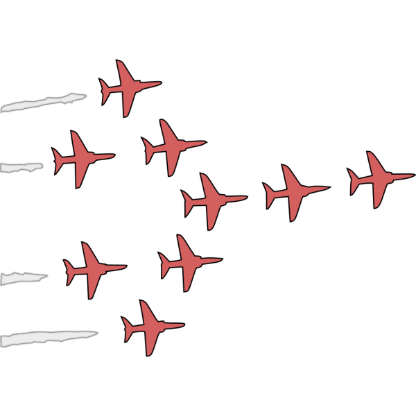 Airplanes Flight Formation PNG Clip art
