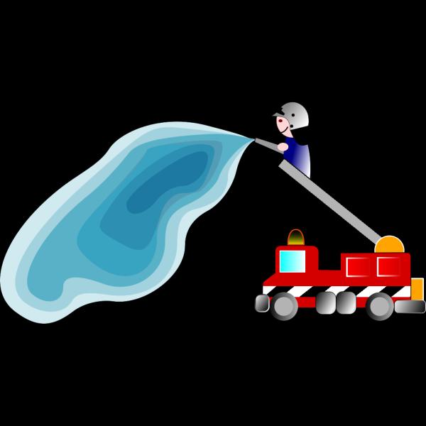 Firetruck And Fireman PNG Clip art