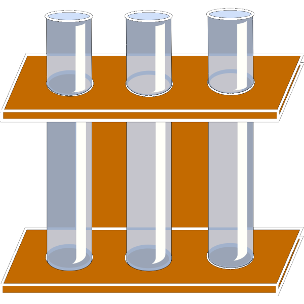 Test Tubes Holder PNG Clip art