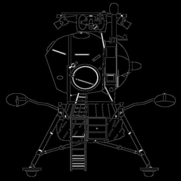 Soviet Lunar Lander PNG Clip art