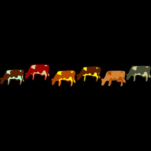 Colour Cows 1 PNG images