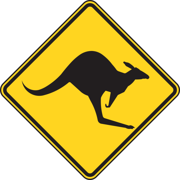 Kangaroo Warning Sign PNG Clip art
