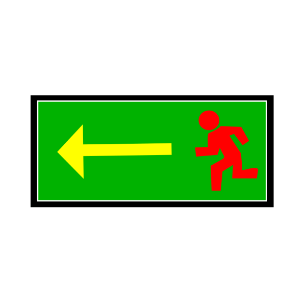 Emergency Exit Sign PNG Clip art