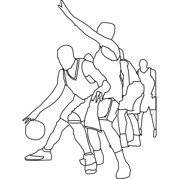 Basketball Game Outline PNG Clip art