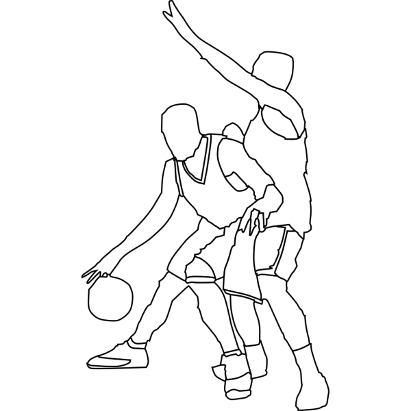 Basketball Offense And Defense PNG image