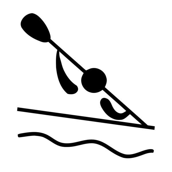 Olympic Sports Canoeing Slalom Pictogram PNG icon