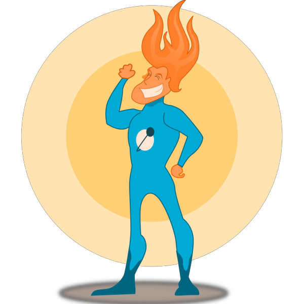 Kablam Super Hero Flame PNG Clip art