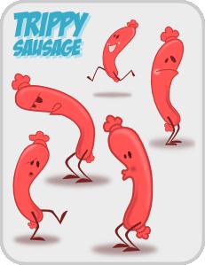 Kablam Trippy Sausage PNG Clip art