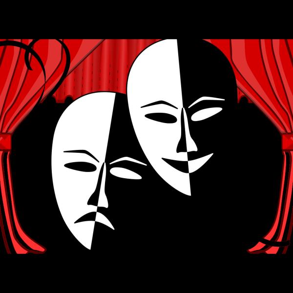 Theatre Masks PNG Clip art