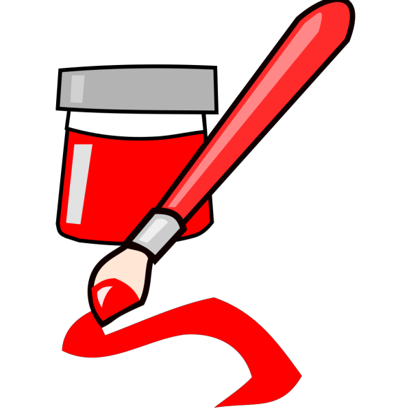 Tom Red Paintbrush PNG Clip art