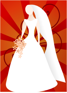 Joelm Red Bride With Sunburst PNG Clip art