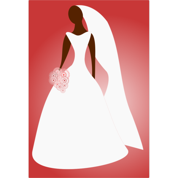 Bride In Wedding Dress PNG Clip art