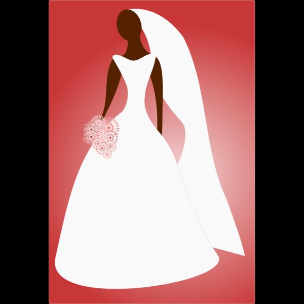 Bride In Wedding Dress PNG Clip art