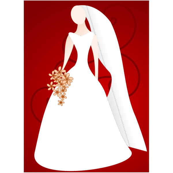 Bride Wearing Gown PNG Clip art
