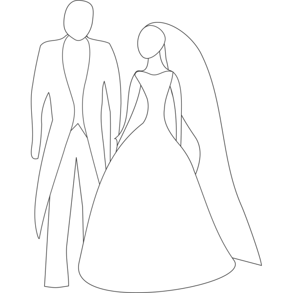 Kattekrab Bride And Groom PNG Clip art