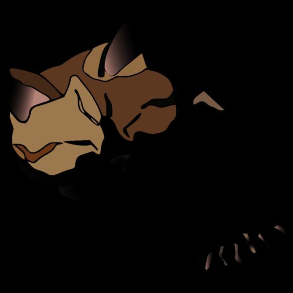 Missiridia Sleepy Calico Cat PNG Clip art