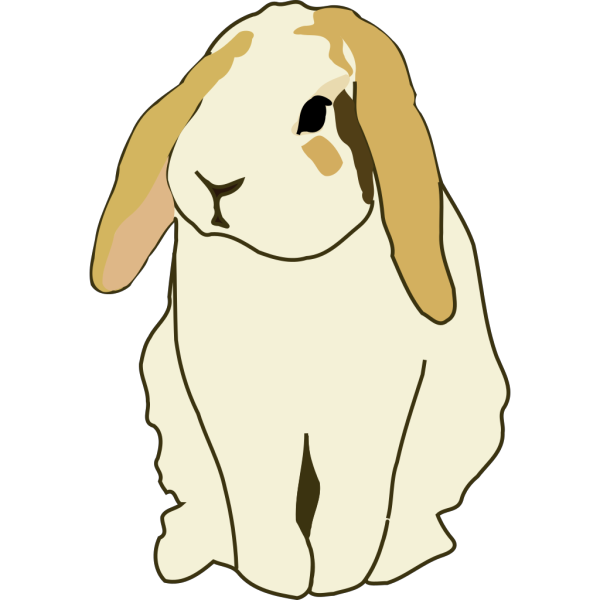 Gingercoons Lop Eared Rabbit PNG Clip art