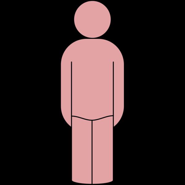 Arking Standing Man PNG Clip art