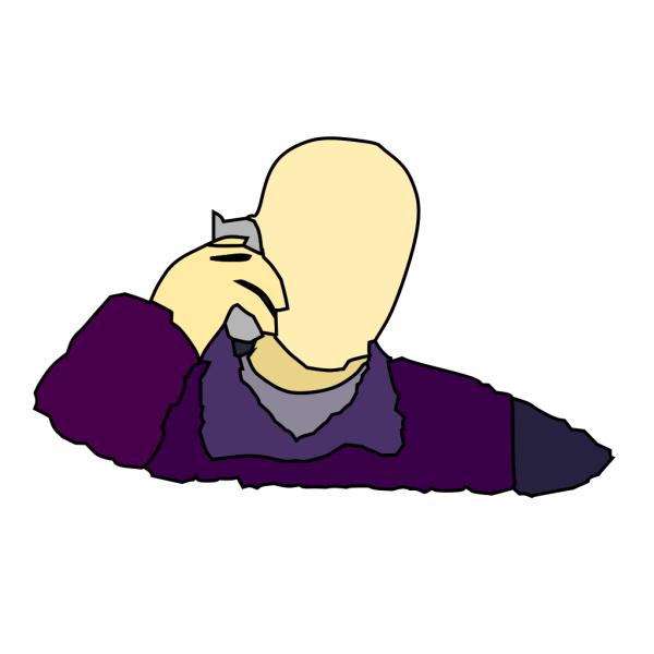 Man Answering The Phone PNG Clip art