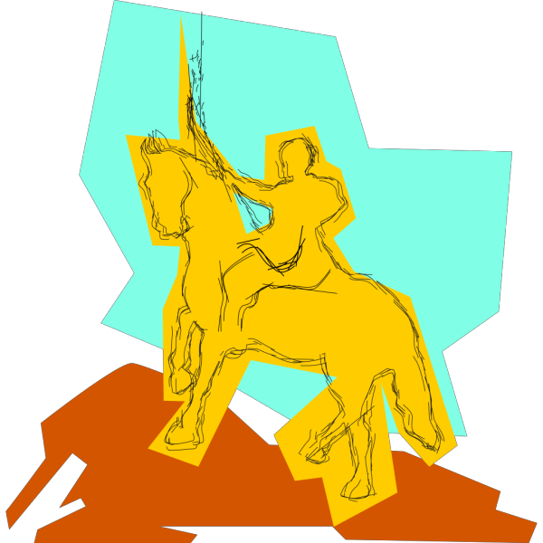 Warrior On A Horse PNG Clip art