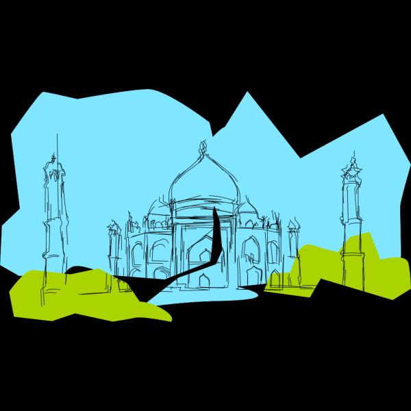 Kablam India The Taj Mahal PNG Clip art
