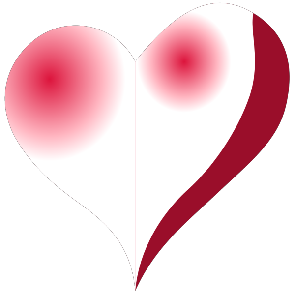 Red Heart Shadow PNG Clip art