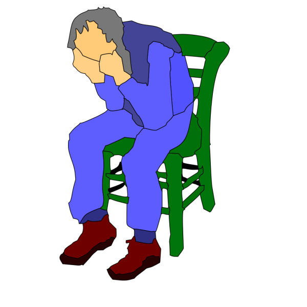 Man Sitting On A Chair PNG Clip art