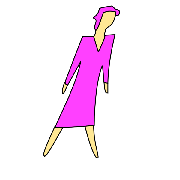 Cartoon Lady Walking PNG Clip art