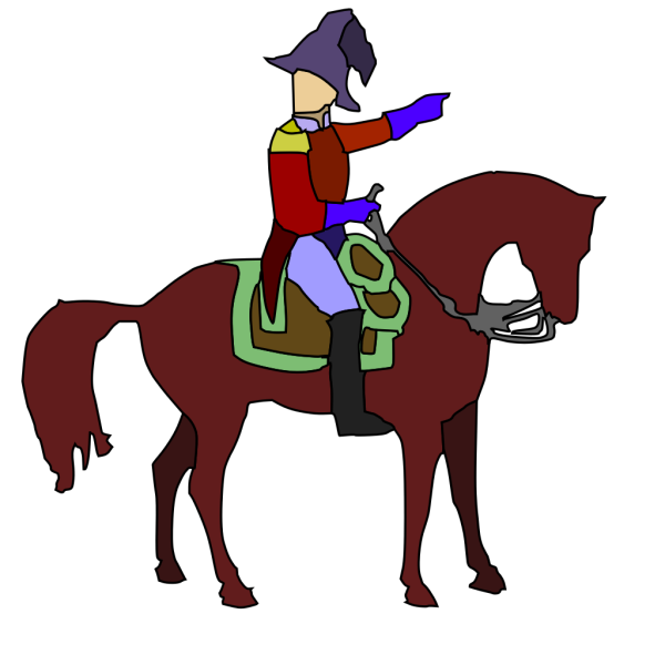Historic Soldier On A Horse PNG images