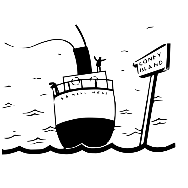 Sailing Ship Cartoon Silhouette PNG Clip art