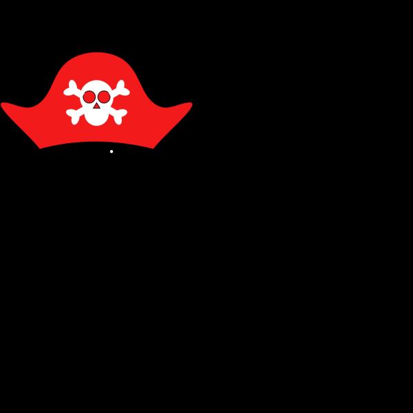 Cartoon Pirate Hat Skull Bones PNG Clip art