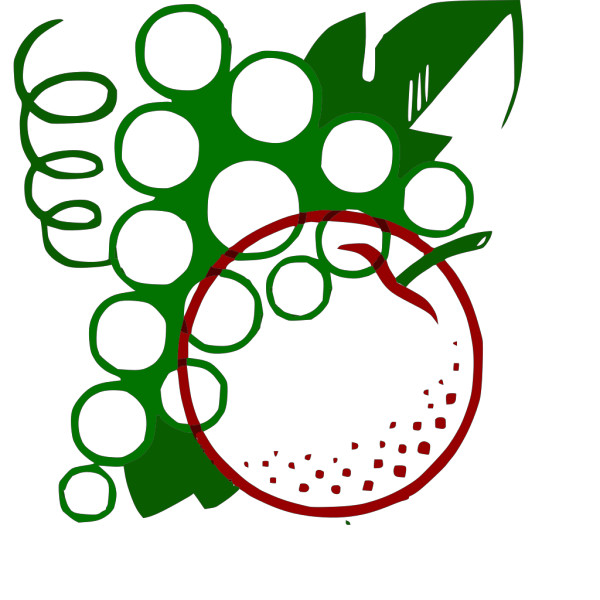 Organge Grapes Cartoon PNG Clip art