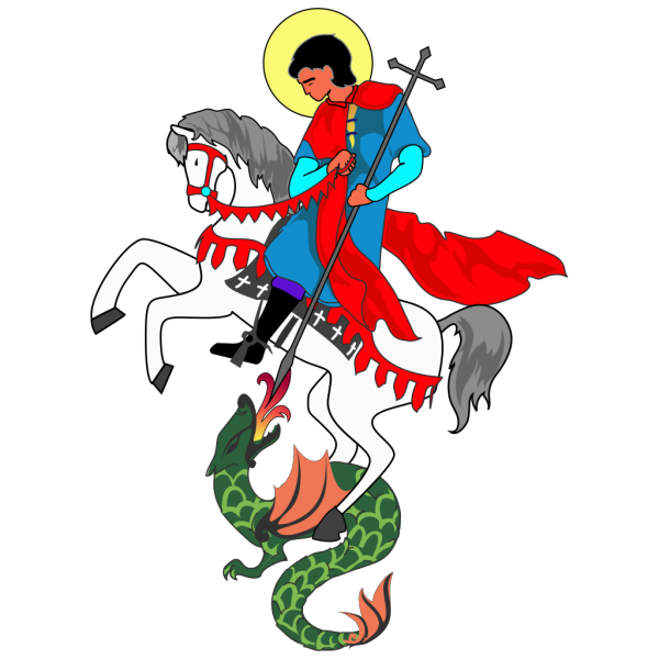 Saint George And Dragon Drawing PNG Clip art