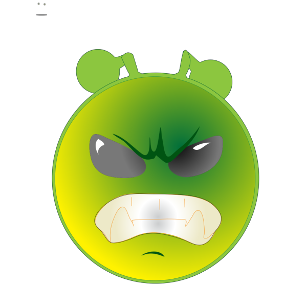 Smiley Green Alien Grrr PNG images