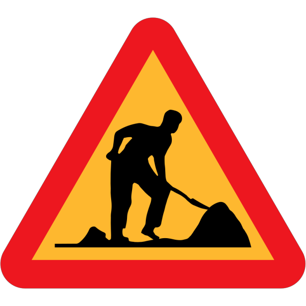 Road Work Under Construction PNG Clip art