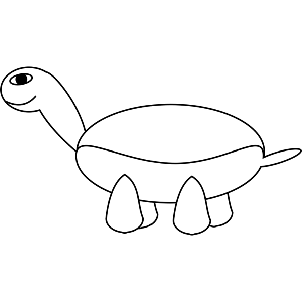 Cartoon Turtle Outline PNG Clip art