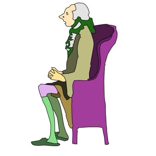 Scared Man Sitting On Chair PNG Clip art