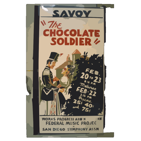 The Chocolate Soldier PNG Clip art