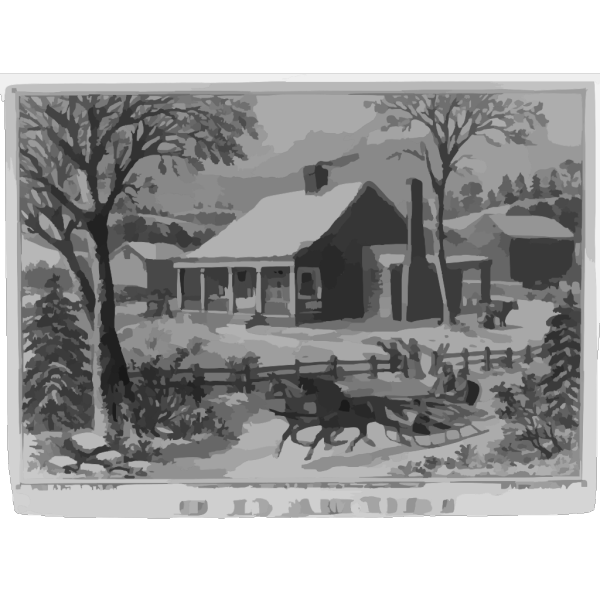 The Old Farm House PNG Clip art