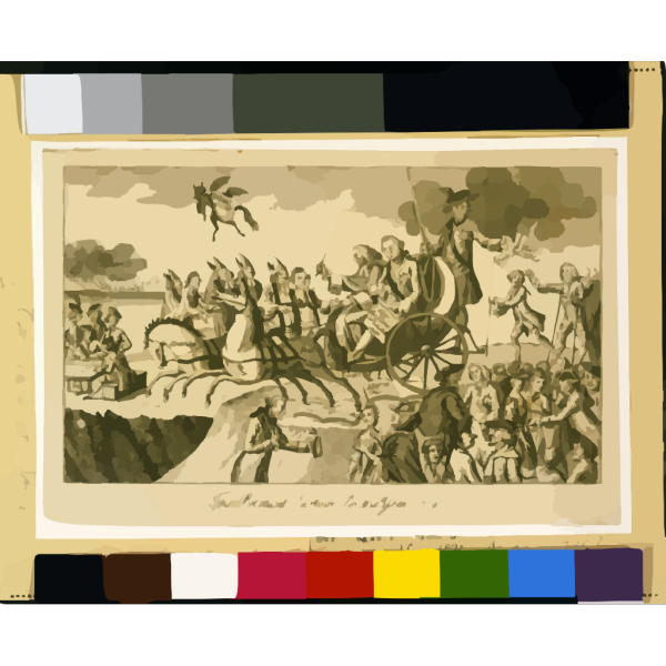 The Political Cartoon For The Year 1775 PNG Clip art
