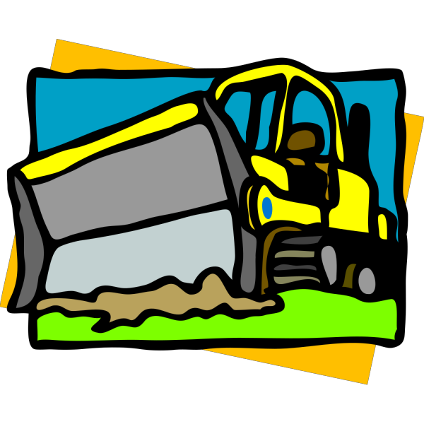 Bulldozer PNG clipart