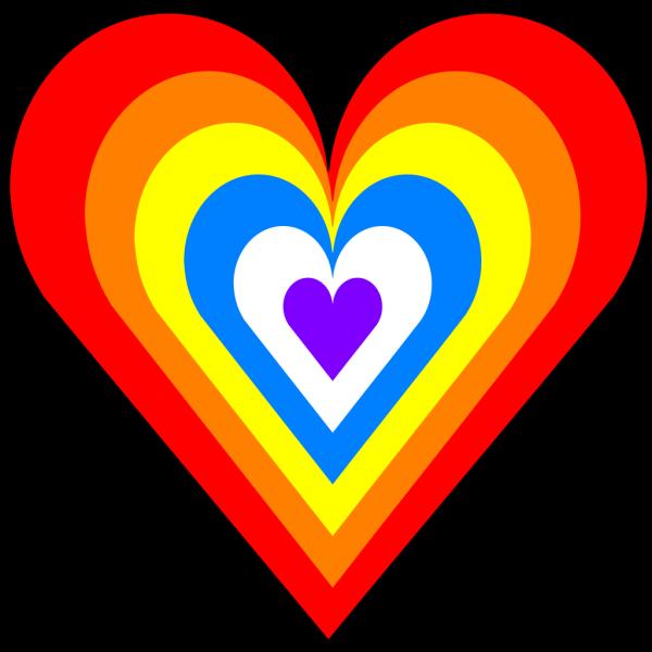 Rainbow Heart PNG Clip art