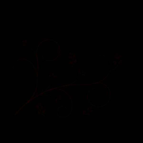 Decorative Floral Vine PNG Clip art
