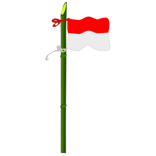 Bamboo And Indonesian Flag PNG Clip art